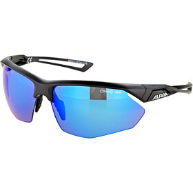 Alpina Nylos HR Lunettes, black matt/blue mirror